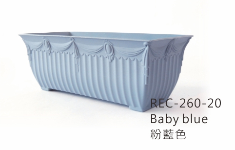 REC-200 Aiermei Embossed Rectangular Pot 帷幕浮雕花槽