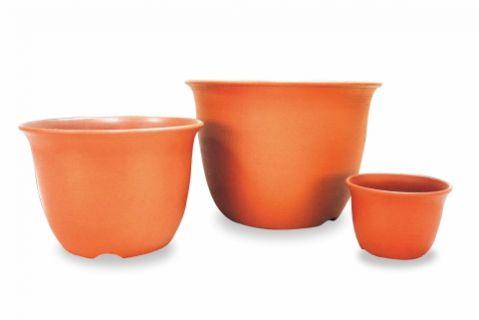 【Aiermei Plastic Clay Pot】L-048 China Clay Pot(S)