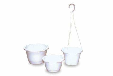 【Aiermei Hanging Pot】L-043 Simple White Hanging Pot